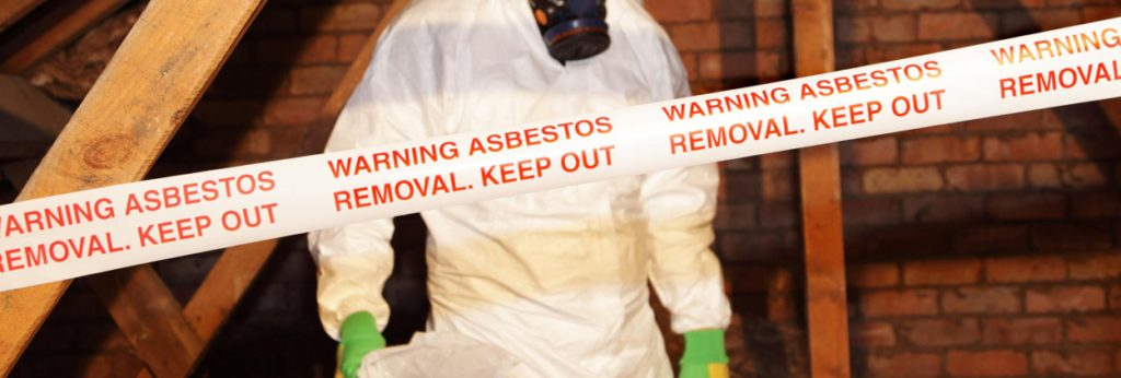 Image of worker testing for asbestos